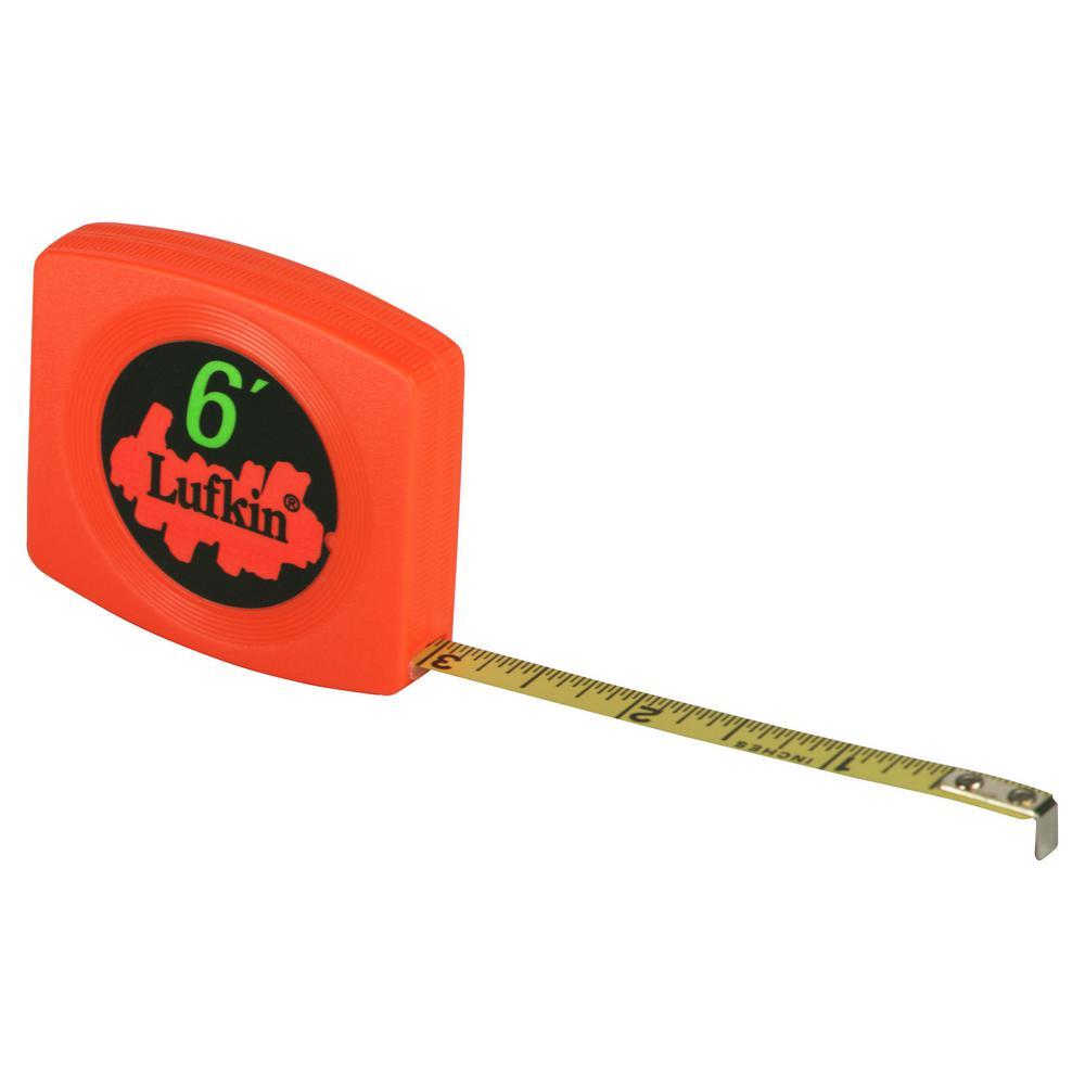 1/4 in. x 6 ft. Pee Wee Hi-Viz Pocket Tape Measure