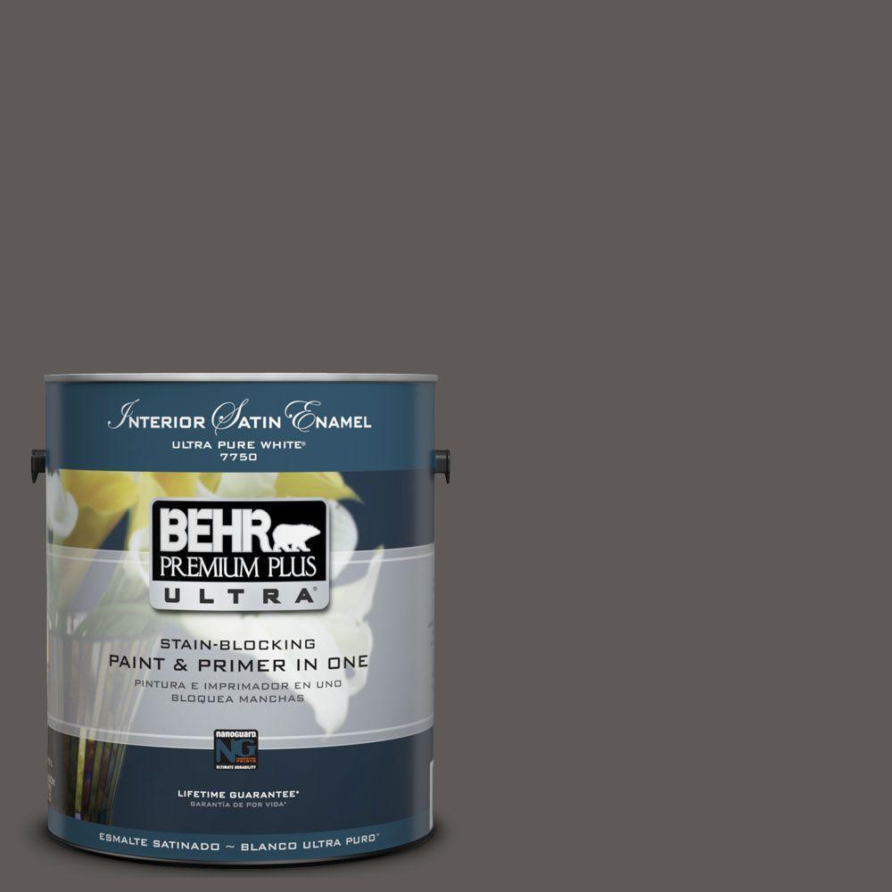 BEHR Premium Plus Ultra 1-Gal. #UL260-2 Intellectual Interior Satin Enamel Paint