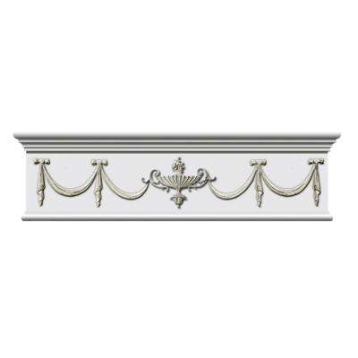 1-3/4 in. x 31-1/2 in. x 7-3/4 in. Decorative Polyurethane Door Surround Applique Moulding