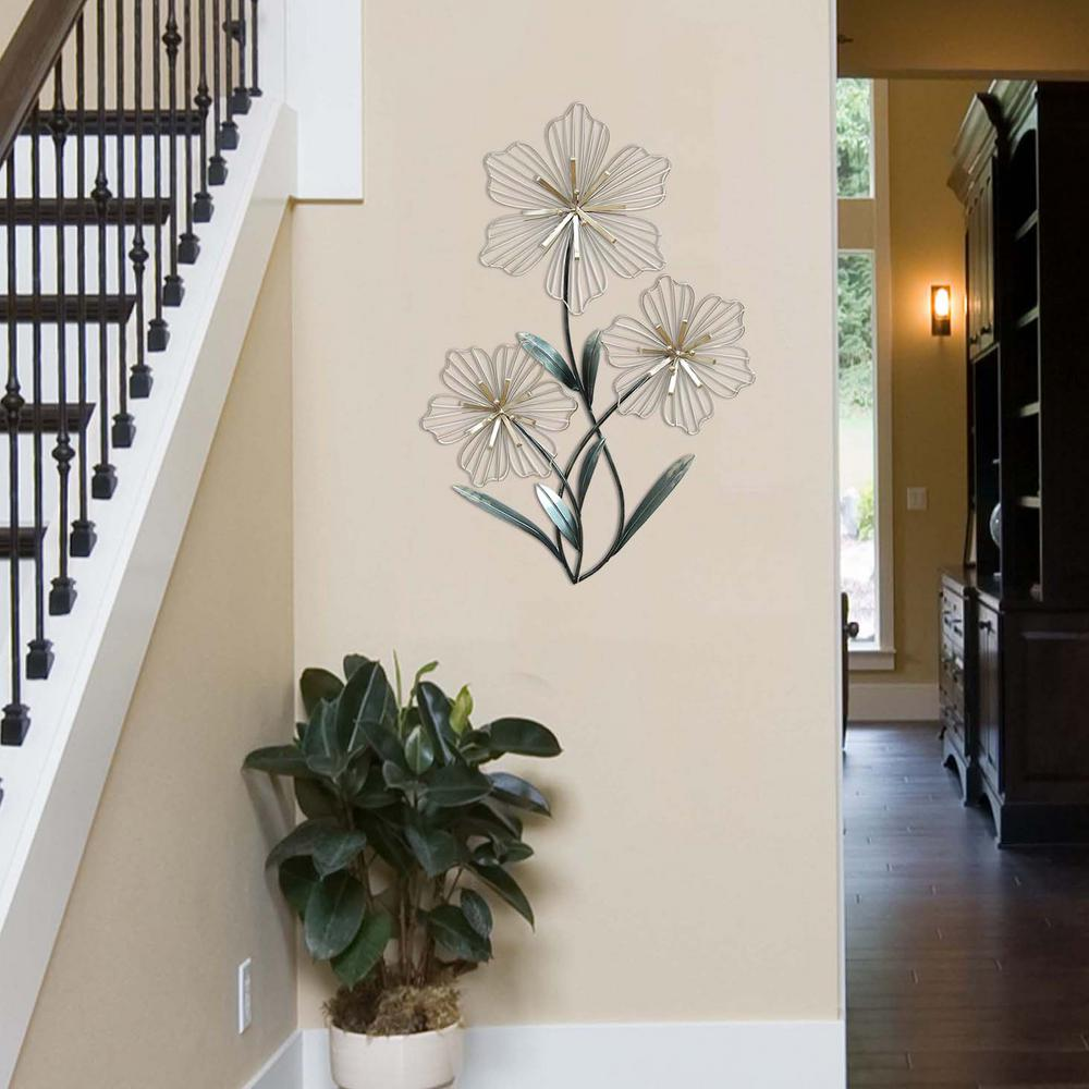 Stratton Home Decor Stratton Home Decor Tri Flower Wall Decor