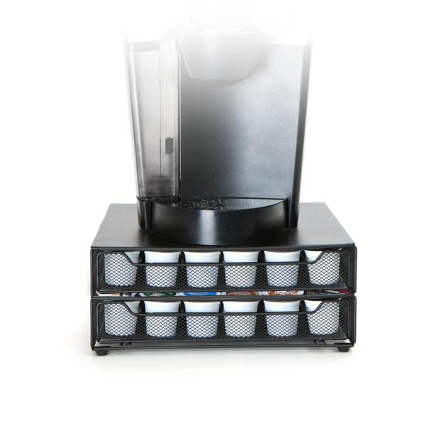 2-Tier Coffee Pod Storage Drawer with 2pcs Cleaning Cloths Coffee Pod Holder for 72 Pods Masthome