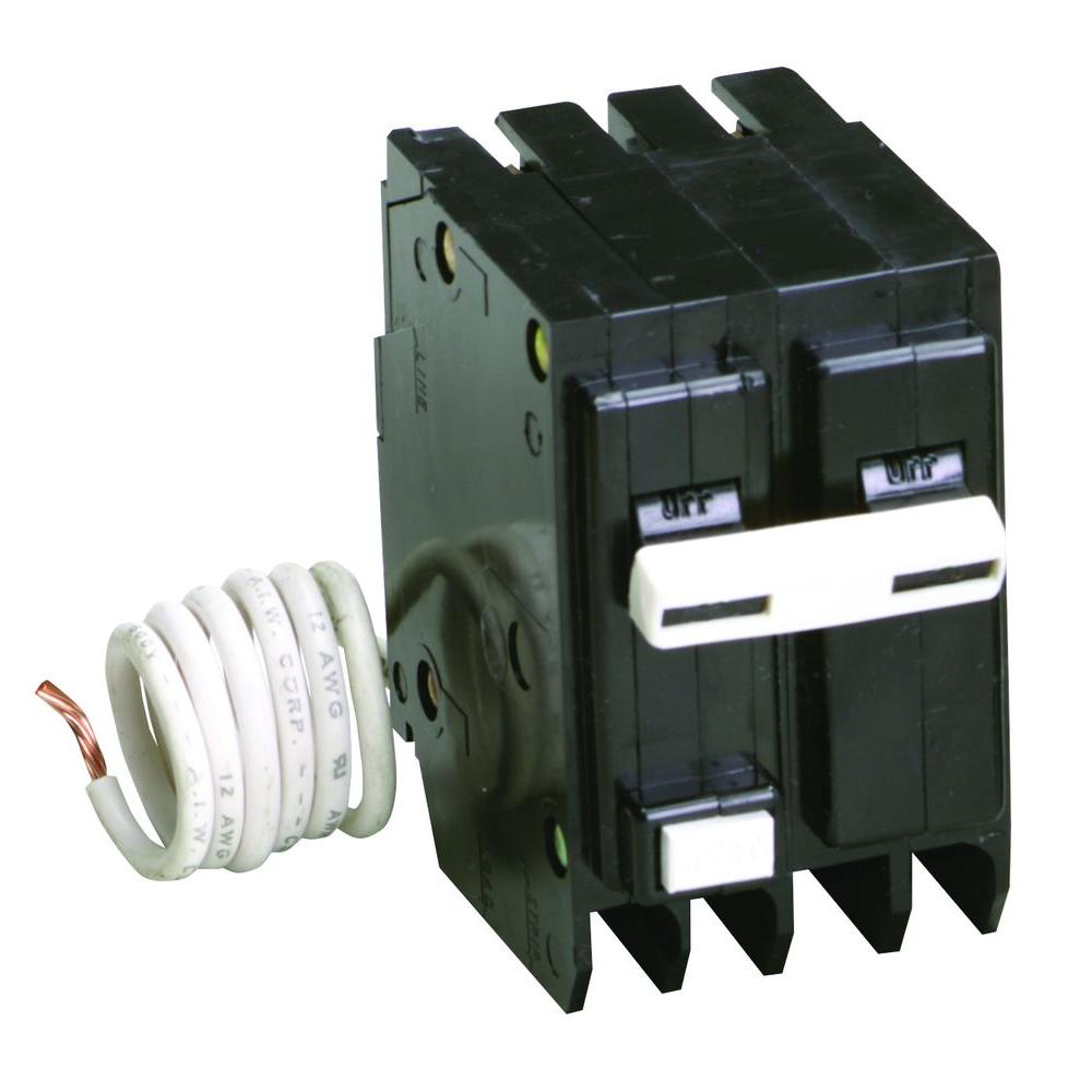 Eaton Type BR 30 Amp 2 in. Double Pole Self Test Ground Fault ...