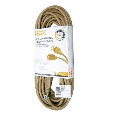 50 ft. 16/3 Indoor/Outdoor Landscape Extension Cord, Beige