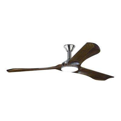 Minimalist Max 72 in. LED Indoor Brushed Steel Ceiling Fan with Light Kit Included