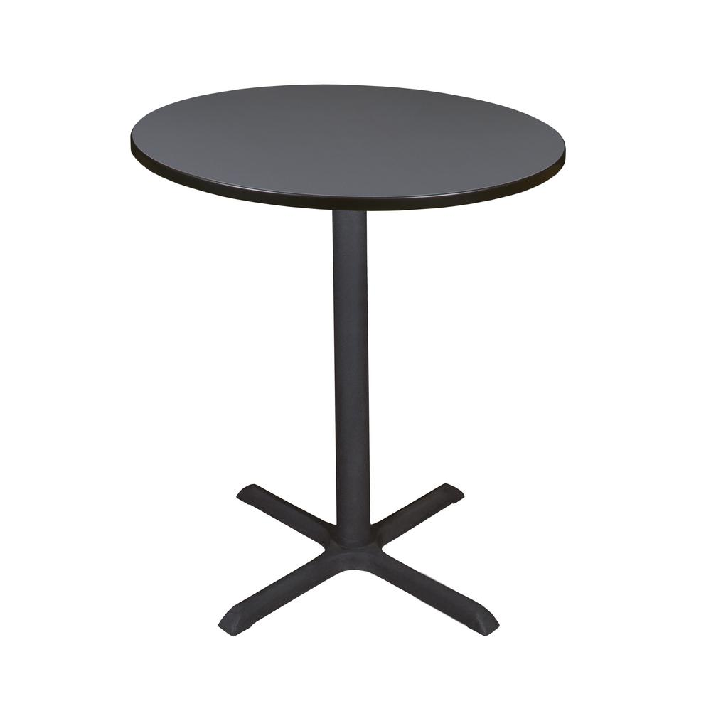 Cain Grey 36 in. Round Cafe Table
