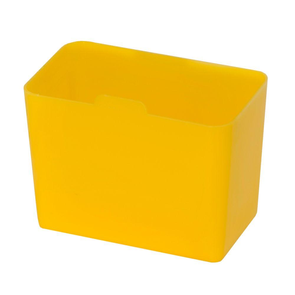 .30-Qt. Heavy Duty Plastic Storage Bin in Yellow (100-Pack)