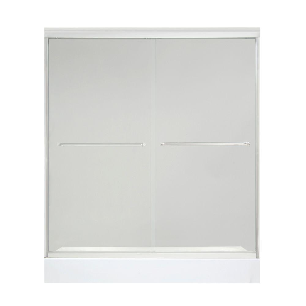 MAAX Tonik 59-1/2 in. x 71 in. Frameless 2-Panel Shower Door in Chrome with Clear Glass