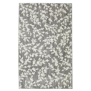 Floral Branches Gray 8 ft. x 10 ft. Area Rug by
