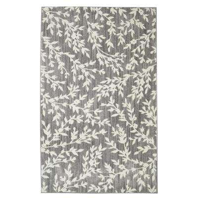Floral Branches Gray 8 ft. x 10 ft. Area Rug