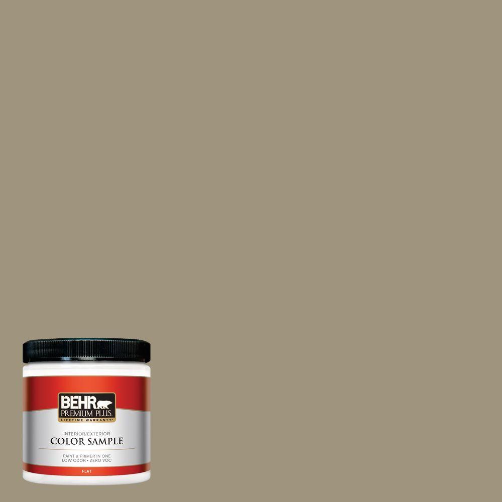 behr premium plus 8 oz 760d 5 shortgrass prairie flat interior exterior paint and primer in. Black Bedroom Furniture Sets. Home Design Ideas