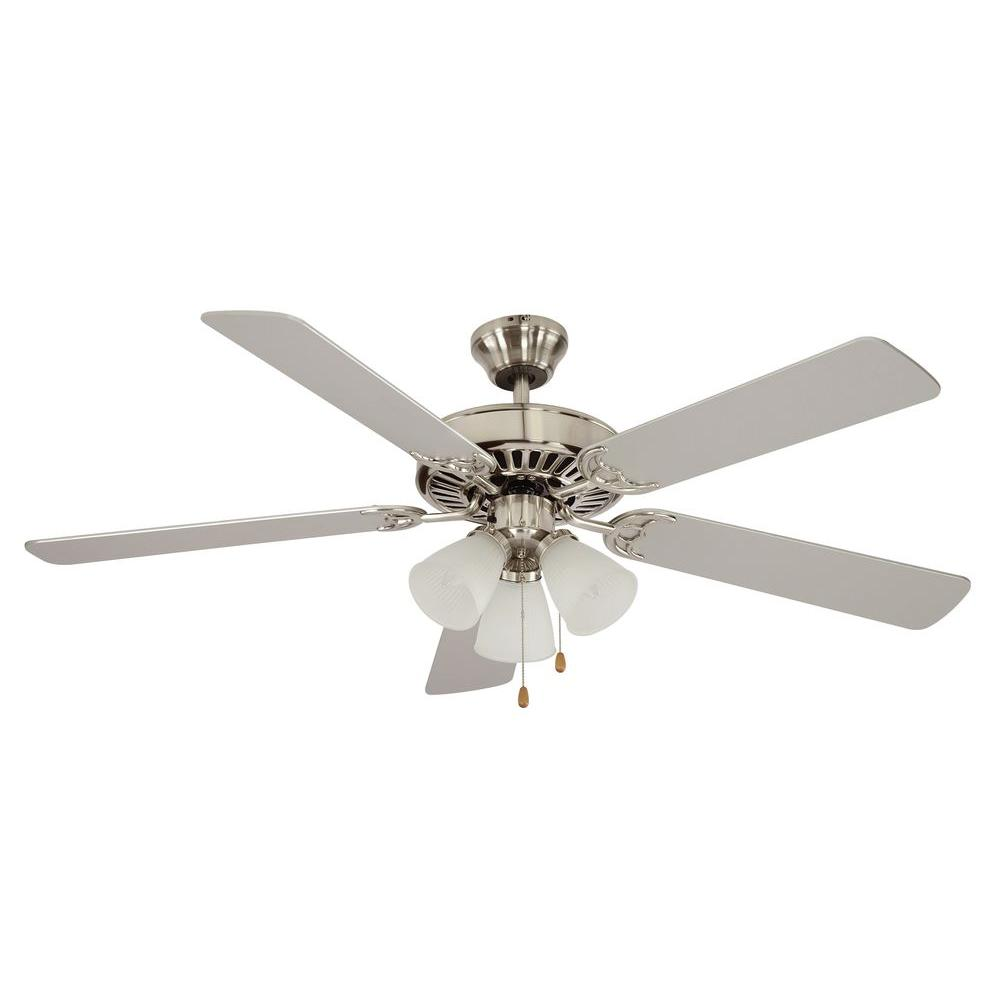 Spottswood 52 in. Indoor Brushed Nickel Ceiling Fan with Light Kit