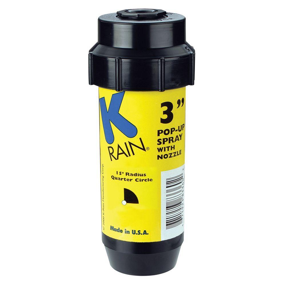 3 in. KSpray Pop-Up Sprinkler 1/4 Circle Pattern Nozzle