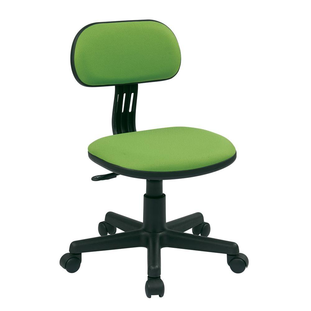 Home Depot Office Chairs: OSPdesigns Green Fabric Office Chair-499-6