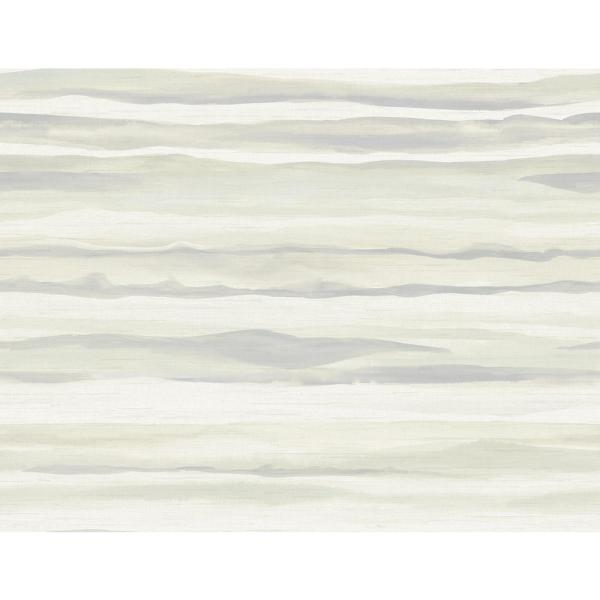 Seabrook Designs Kentmere Waves Metallic Pearl And Light Grey Paper Strippable Roll Covers 60 75 Sq Ft Lg90208 The Home Depot