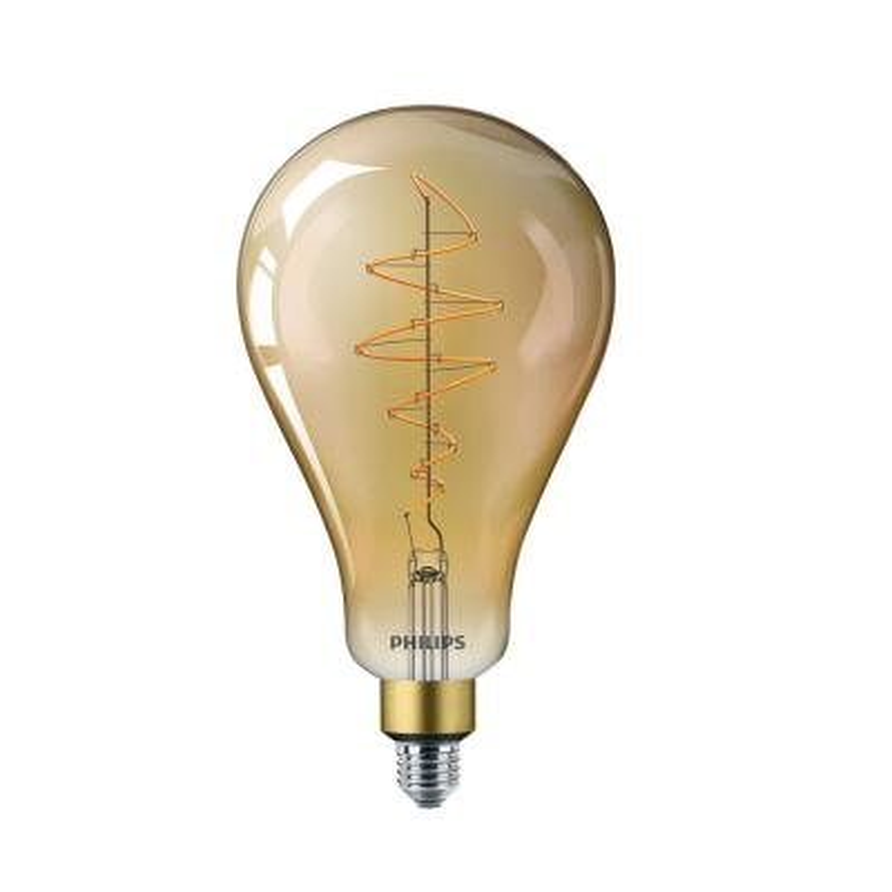 40-Watt Equivalent A50 Dimmable Vintage Glass Edison LED Large Light Bulb Amber Warm White (2000K)