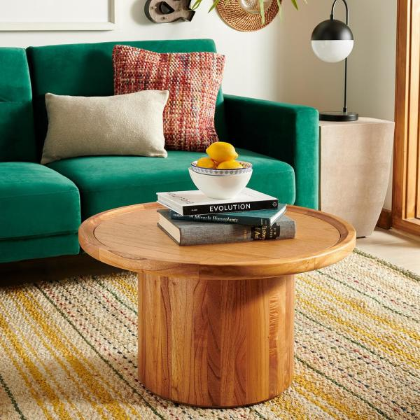 Safavieh Devin Natural Brown Coffee Table Cof6600a The