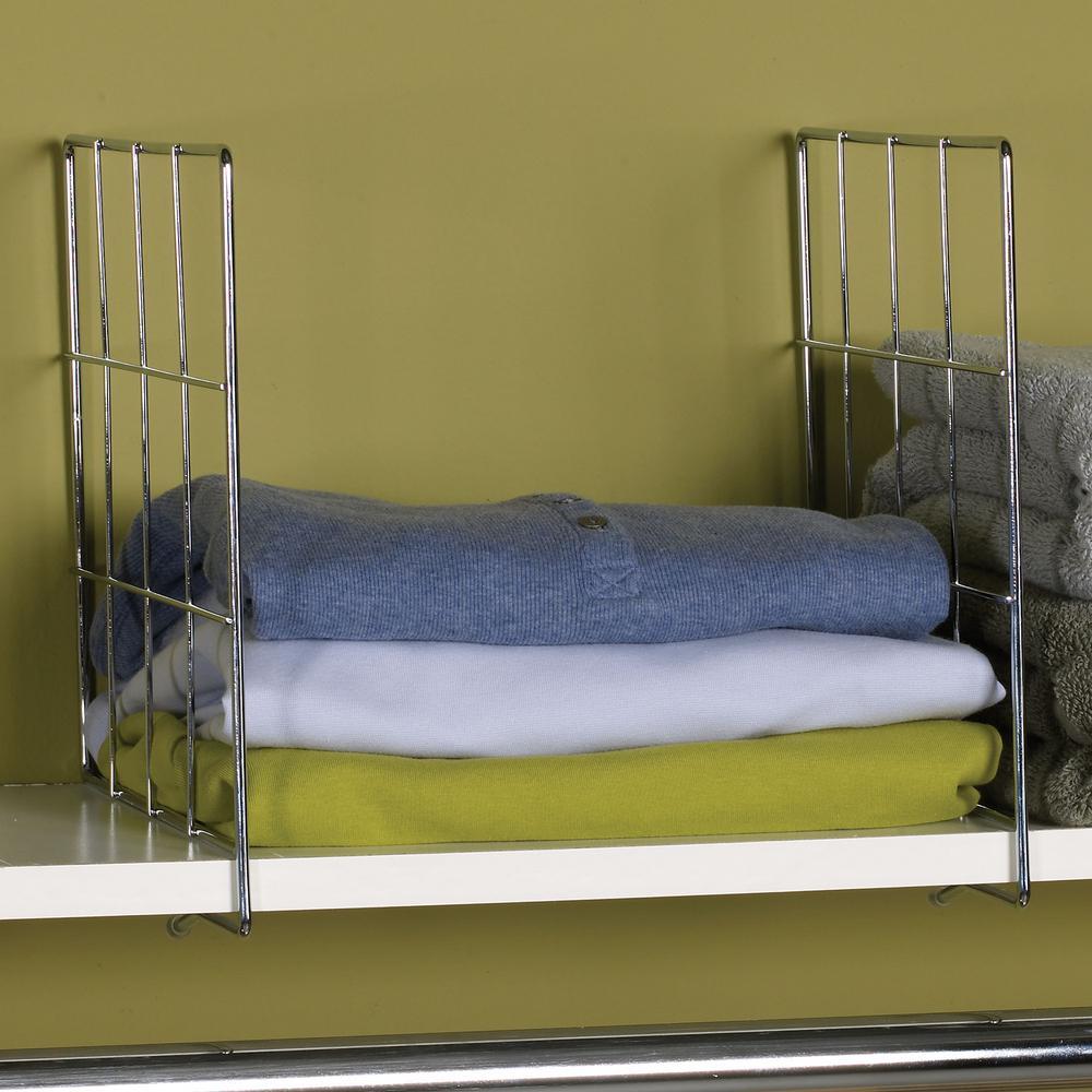 Household Essentials Shelf Divider in Chrome (Set of 2)-25000 ...