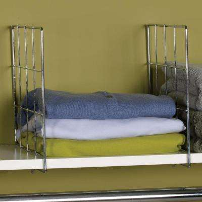 Shelf Divider in Chrome (Set of 2)