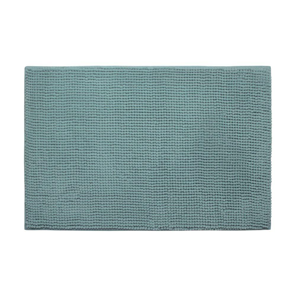 Plush Chenille Marine Blue 20 in. x 30 in. Memory Foam