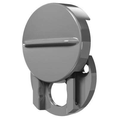 1-1/2 in. Outside Diameter Fixed Door Viewer Privacy Cover Plastic Construction Painted Finish Satin Gray Color