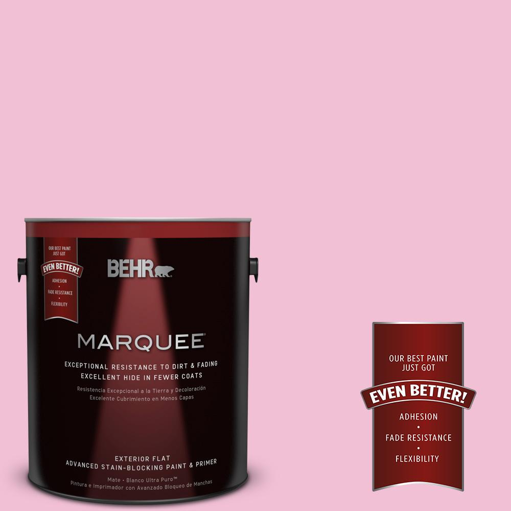 BEHR MARQUEE 1-gal. #100B-4 Pink Chintz Flat Exterior Paint