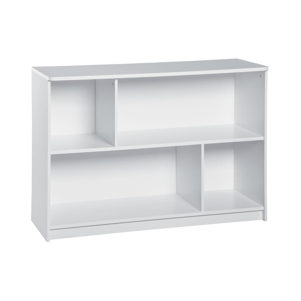 KidSpace 40 in. W x 29 in. H White 2-Cube 2-Shelf