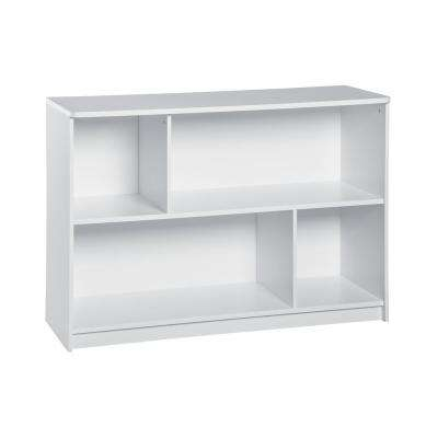 KidSpace 40 in. W x 29 in. H White 2-Cube 2-Shelf Storage Organizer