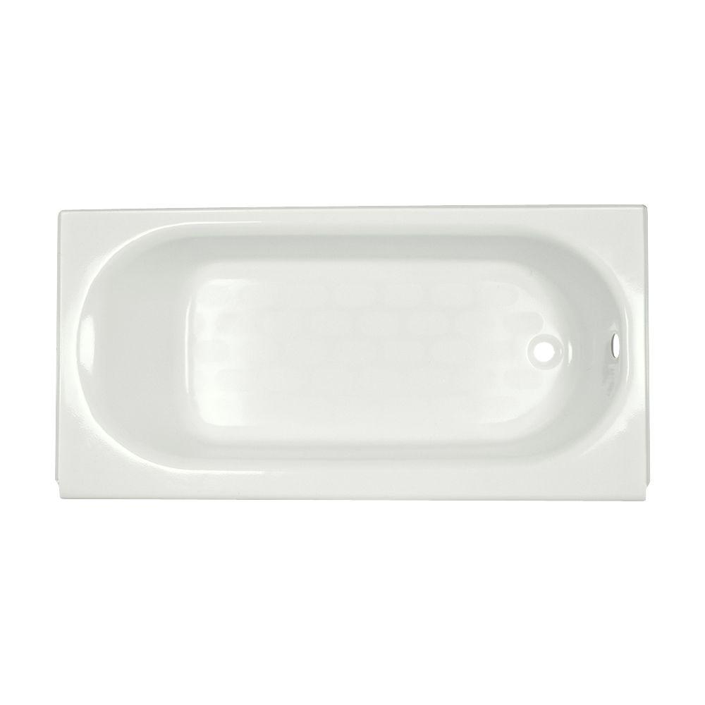 American Standard Princeton 5 ft. Right Drain Americast Bathtub with Integral Apron in White-DISCONTINUED