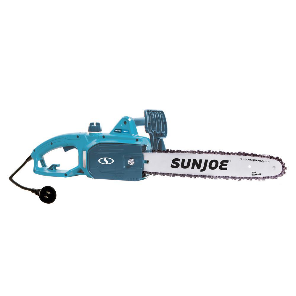 Sun Joe 14 in. 9-Amp Blue Electric Chain Saw