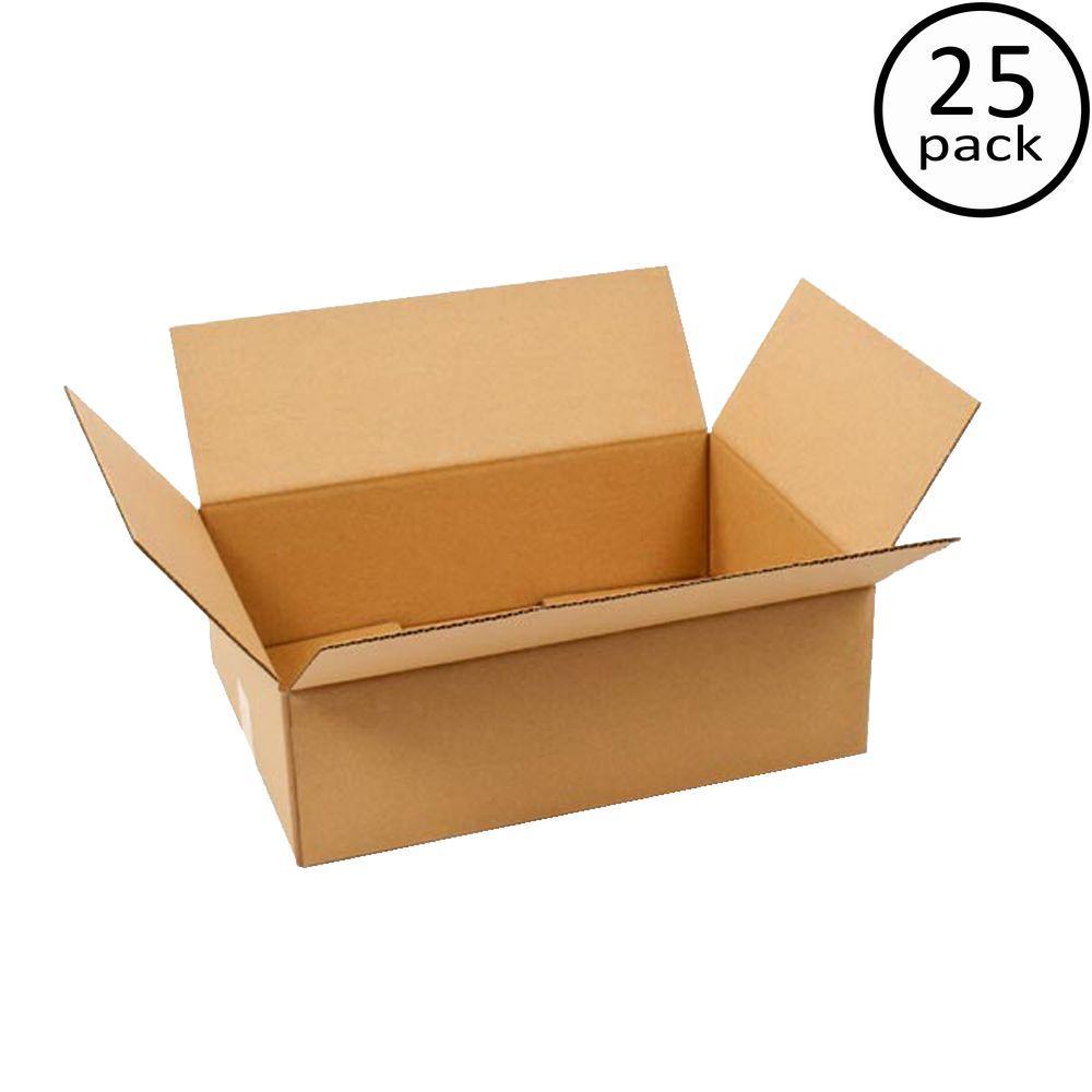 Plain Brown Box 20 in. x 14 in. x 6 in. 25-Box Bundle