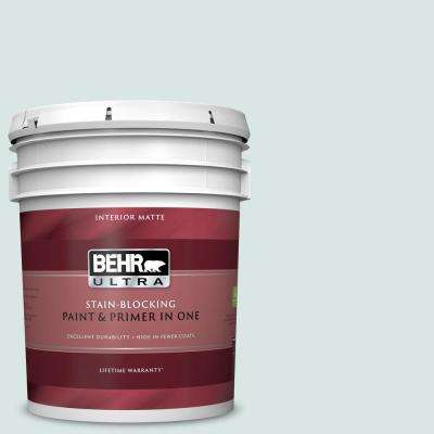 5 gal. #MQ3-51 Crystalline Falls Matte Interior Paint and Primer in One