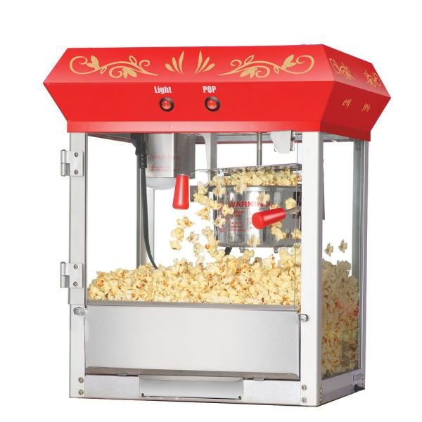 6106 Great 6 Oz. Northern Popcorn Red Foundation Top Popcorn Popper Machine