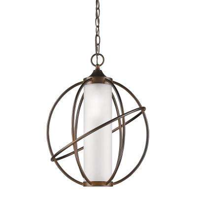 Loft Indoor 1-Light Oil Rubbed Bronze Pendant with Metal Cage