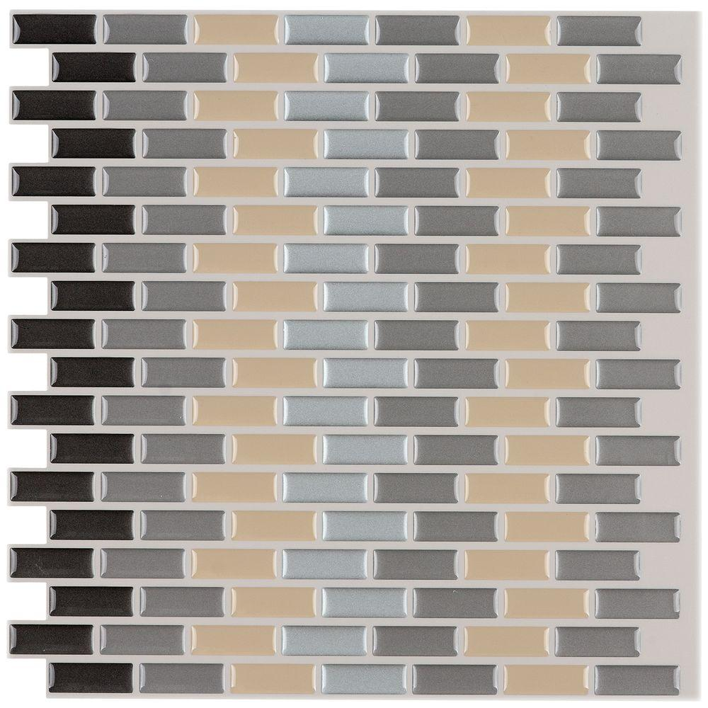 12 in. x 12 in. Peel and Stick Mosaic Decorative Wall