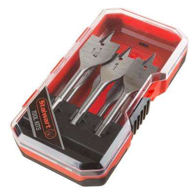 Carbon Steel Spade Drill Bit Set with Case 7-Piece