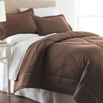 Full Queen Chocolate Quilted Polyester Blanket