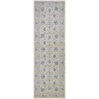 Sultan Treasures Persian Isfahan Antique Creme 3 ft. x 8 ft. Runner Rug