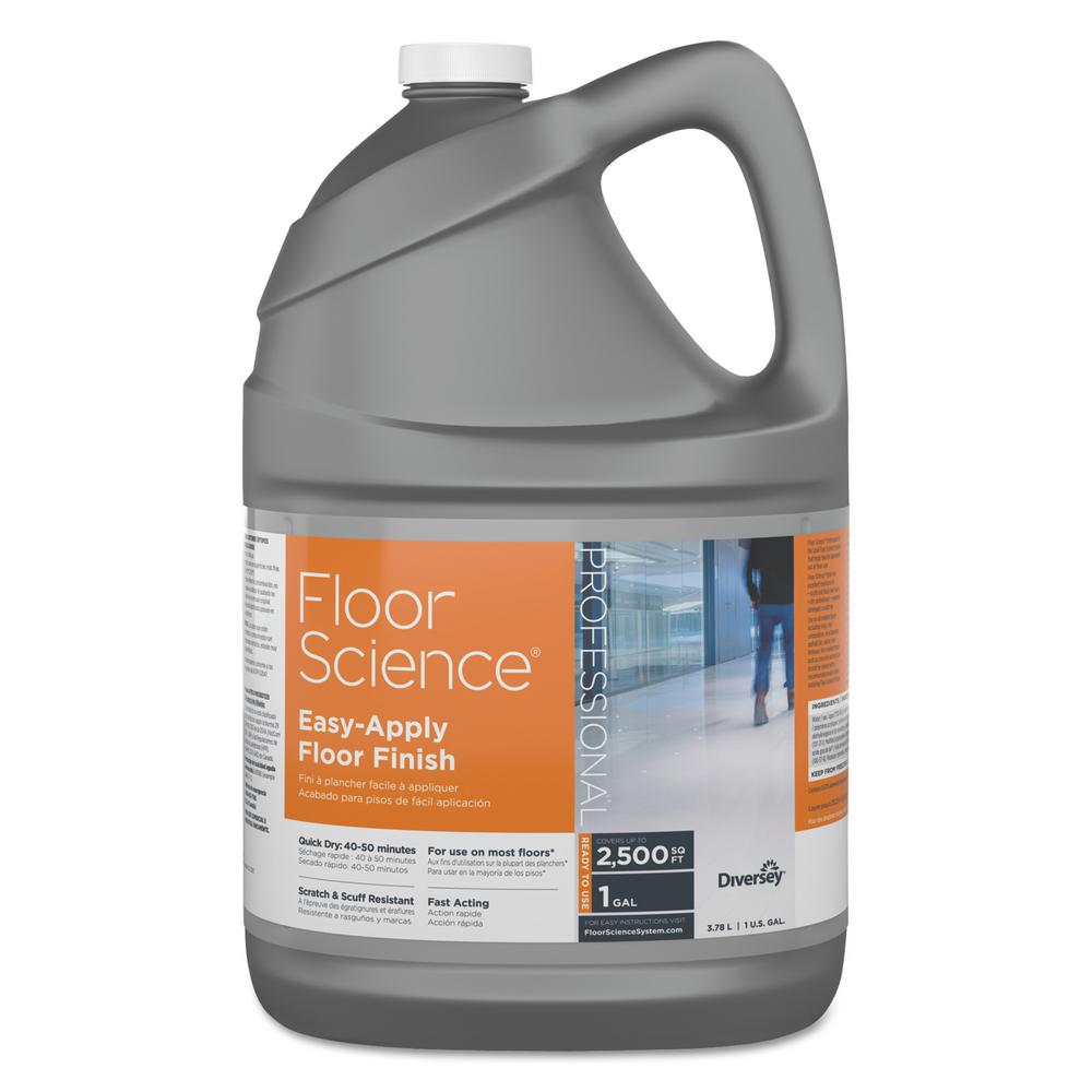 1 Gal. Ammonia Scent Floor Science Easy Apply Floor Finish Container