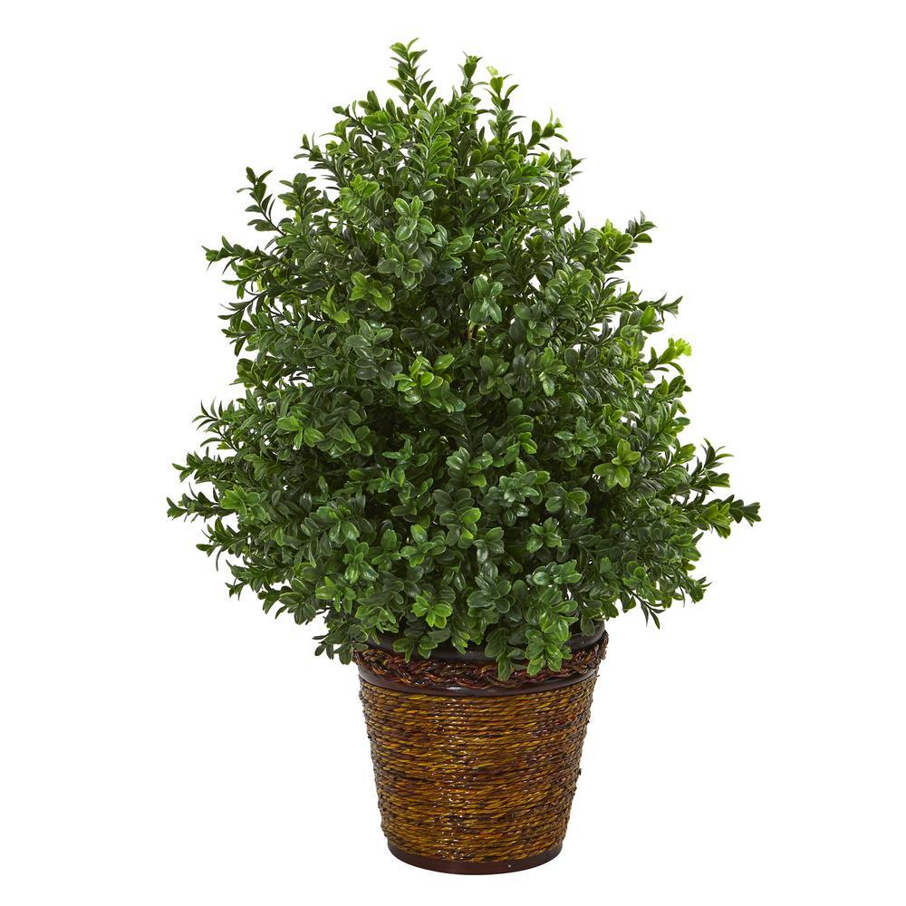 23 in. Sweet Grass Artificial Plant in Basket (Indoor/Outdoor)