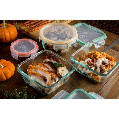 Total Solutions Glass Food Storage Set with Airtight Lids (8-Piece)