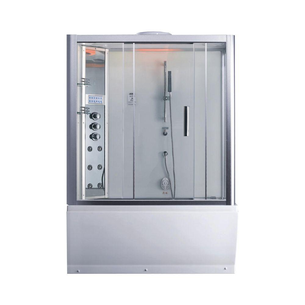 Ariel Platinum 59 in. x 87.4 in. x 32 in. Steam Shower Enclosure Kit ...
