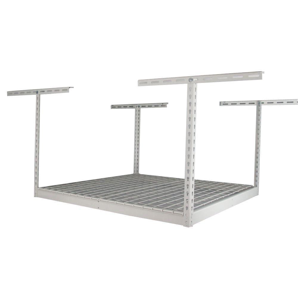 Overhead Storage Rack  sc 1 st  Home Depot & White - SafeRacks - Garage Shelves u0026 Racks - Garage Storage - The ...