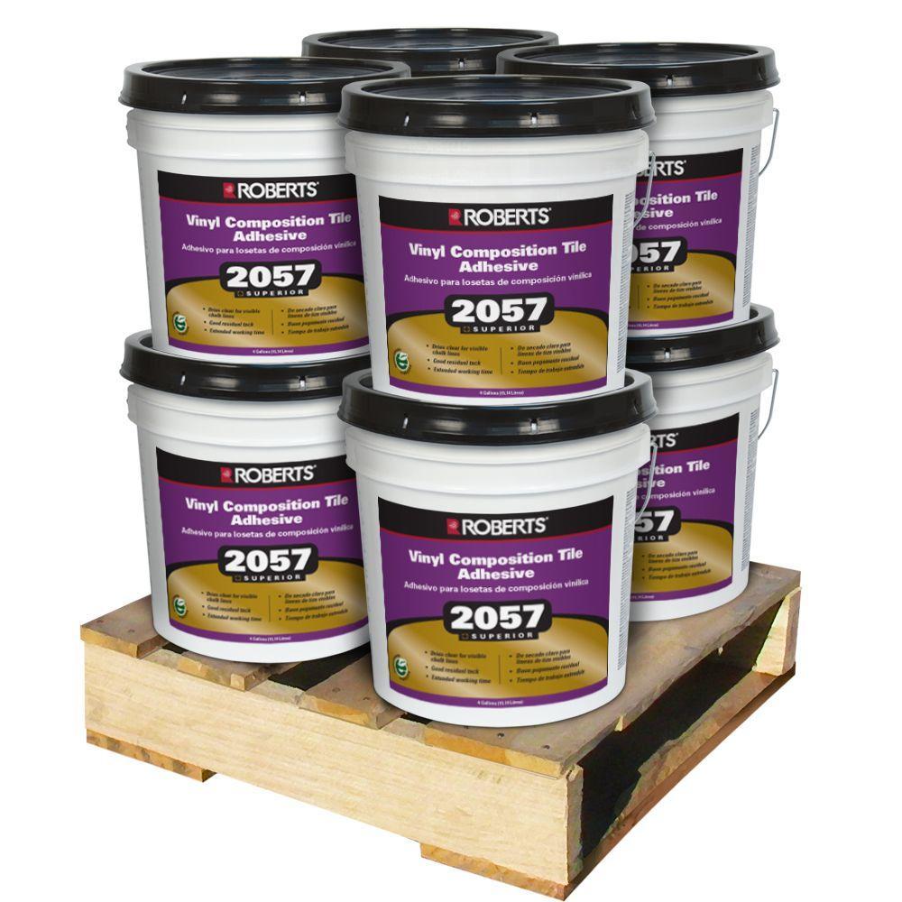 Roberts 4 Gal. Premium Vinyl Tile Glue Adhesive (8 Pail Pallet) by Roberts