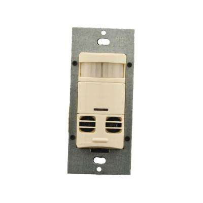 Multi-Technology Wall Switch Motion Sensor No Neutral, Light Almond
