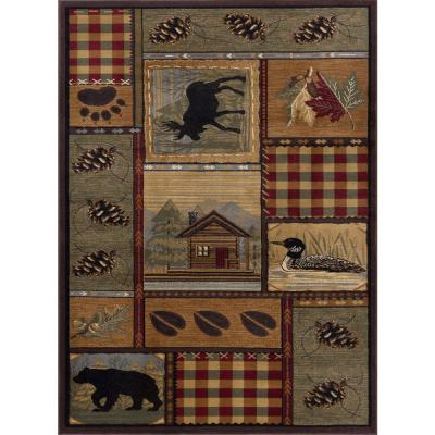 Nature Multi-Color 8 ft. 9 in. x 12 ft. 3 in. Indoor Area Rug
