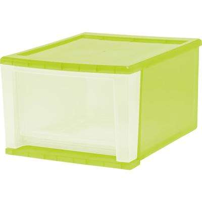12.05 in. x 8.39 in. 17 Qt. Green Stacking Drawer (4-Pack)