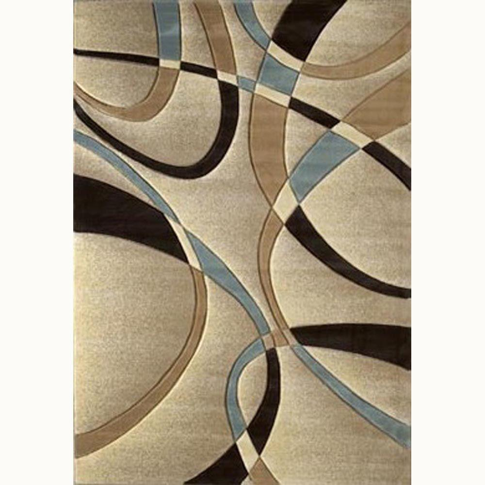 La Chic Beige 8 Ft X 11 Contemporary Area Rug 510 21326 811 The Home Depot