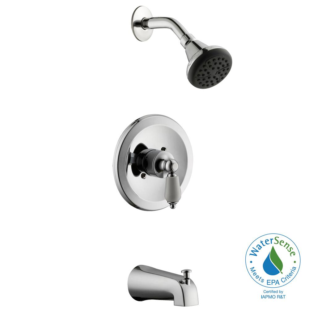 Glacier Bay Teapot Single Handle Tub And Shower Faucet In Chrome