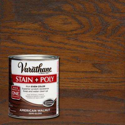 1-qt. American Walnut Stain and Polyurethane (2-Pack)