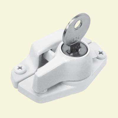 Diecast White Keyed Sash Lock